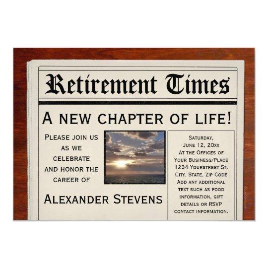 Retirement Party Fun Newspaper Invitation | Zazzle.com