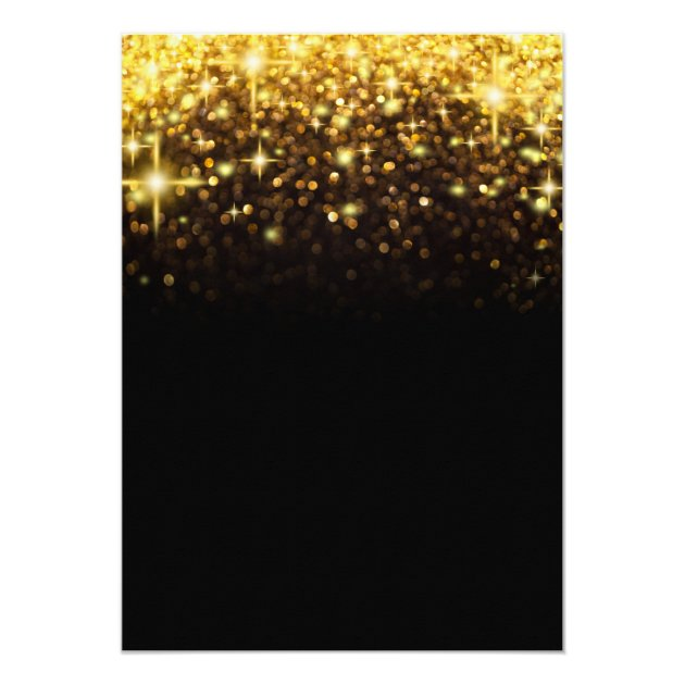 Retirement Party Gold Glitter Glamour Sparkles Card (back side)