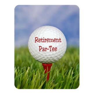 Golf Themed Retirement Party Invitations & Announcements | Zazzle