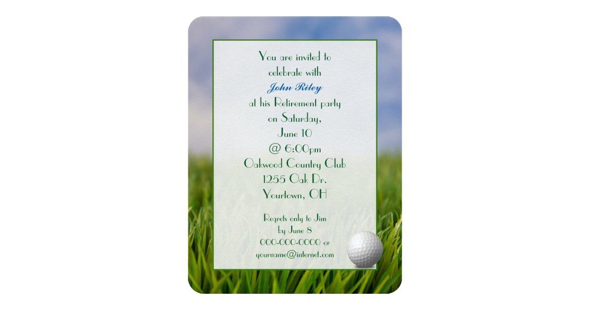 Retirement Party Golf Theme Card Zazzle