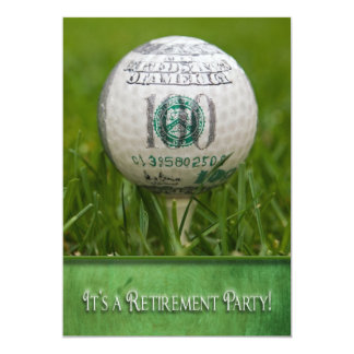 Retirement Party Golf theme Card