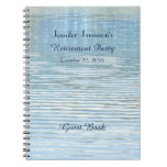 Retirement Party Guest Book Abstract Reflection Spiral Notebook