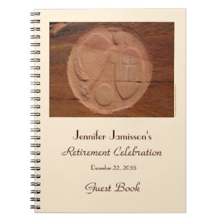Retirement Party Guest Book, Angel in the Rocks Spiral Notebook