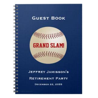 Retirement Party Guest Book, Baseball, Grand Slam Spiral Notebook