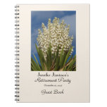 Retirement Party Guest Book, Blooming Yucca Spiral Notebook