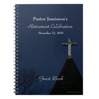 Retirement Party Guest Book, Cross Notebook