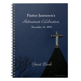 Retirement Party Guest Book, Cross Spiral Notebook
