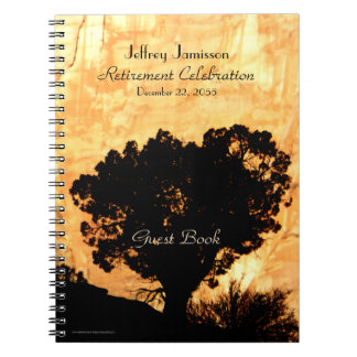 Retirement Party Guest Book, Lone Tree Spiral Notebook