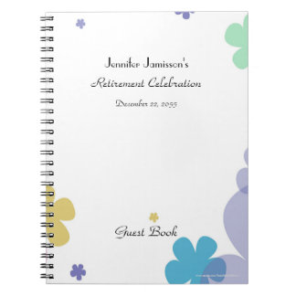 Retirement Party Guest Book Notebooks