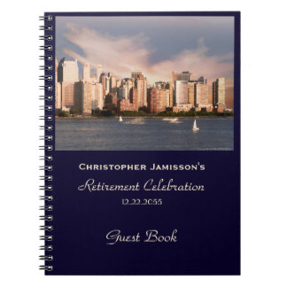 Retirement Party Guest Book, NYC Manhattan Skyline Notebook