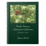 Retirement Party Guest Book, Orange Butterfly Note Books