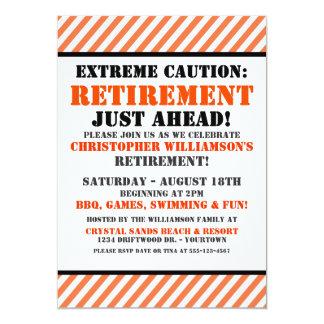 retirement announcement flyer