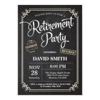 Retirement Party Invitation Card Chalkboard