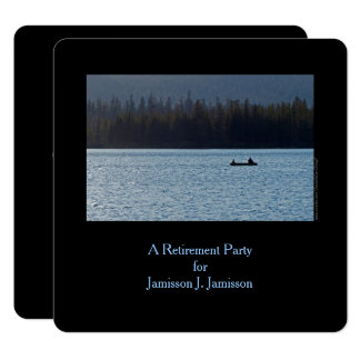 Retirement Party Invitation, Fisherman and Son Card