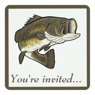Retirement Party Invitation: Largemouth Bass Card