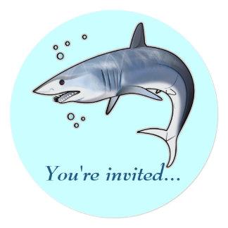 Retirement Party Invitation: Mako Shark 5.25x5.25 Square Paper Invitation Card