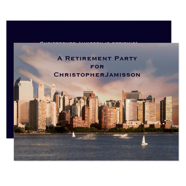 Retirement Party Invitation, NYC Manhattan Skyline