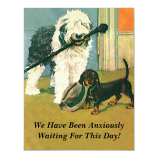 RETIREMENT PARTY INVITATION Pets Dogs Waiting last