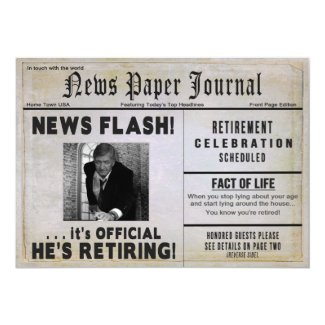 Retirement Party Invitation - PHOTO INSERT/ News -