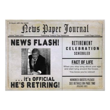 retirements Retirement Party Invitation - PHOTO INSERT/ News -