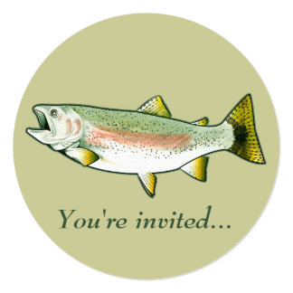 Retirement Party Invitation: Rainbow Trout Card