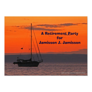 Retirement Party Invitation Sailboat at Sunset
