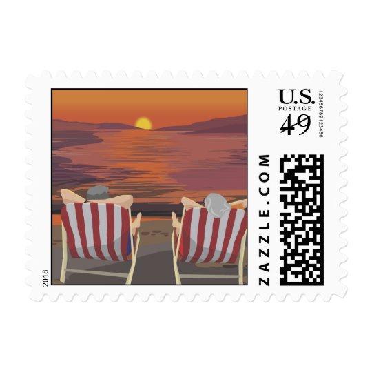 Retirement Party Invitation Stamp