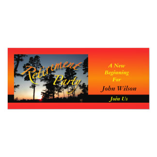 Retirement Party Invitation Sunset