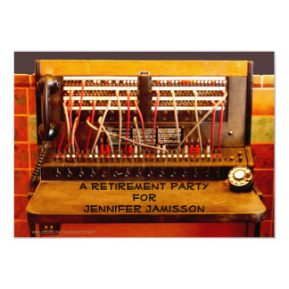 Retirement Party Invitation, Vintage Switchboard Card