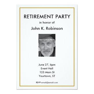 Retirement Party Invitation with custom photo