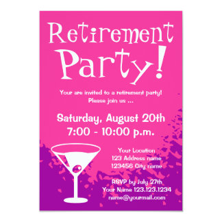 Retirement party invitations | Custom invites