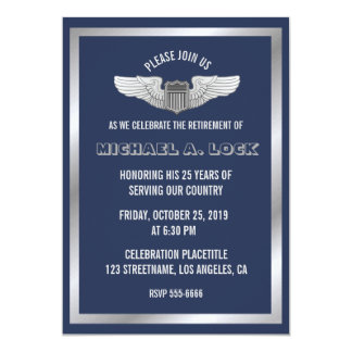 Retirement Party Invitations for Air Force Pilot