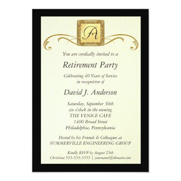Retirement Party Invitations - Formal Photo Invite | Zazzle