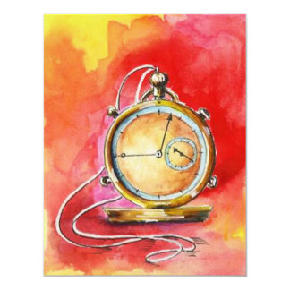Retirement Party Invitations Gold Pocket Watch!