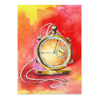 Retirement Party Invitations Gold Pocket Watch