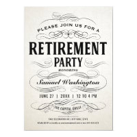 Retirement Party Invitations Vintage Scrollwork