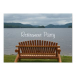 Retirement Party-Lakeview with Wooden Bench Custom Invites
