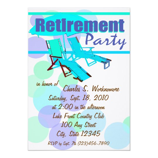 Retirement Party/ Lounge Chairs Card