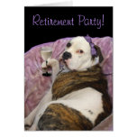 Retirement party olde english bulldogge invitation greeting cards
