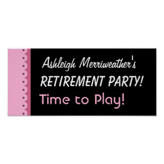 Retirement Party or Any Year PINK A01C Print