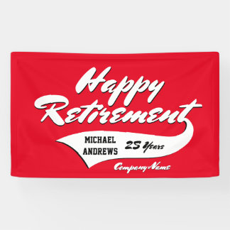 Retirement Party Personalize Banner