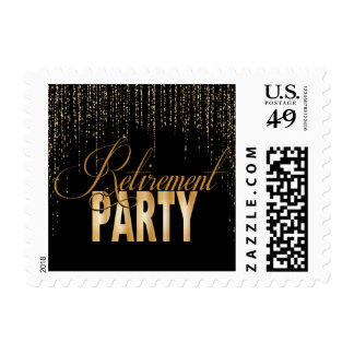 Retirement Party Postage Stamps