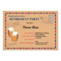 Retirement Party Postal Post Card Retired Invite