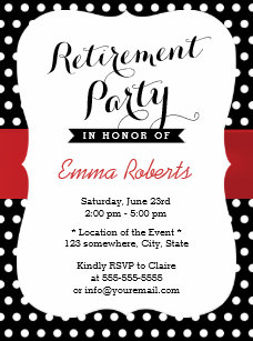 red and white polka dot invitations zazzle