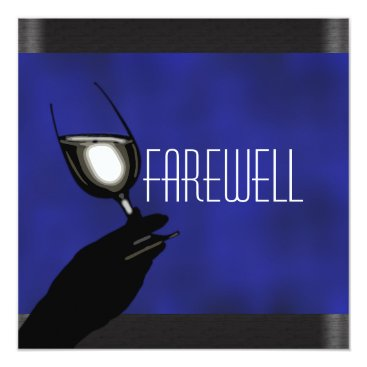 Professional Business Retirement party retiring farewell CUSTOMIZE Card