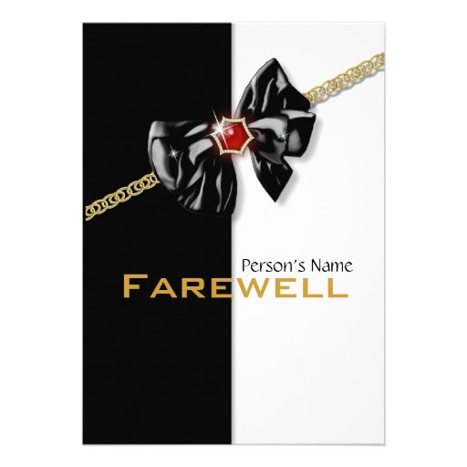 Retirement party retiring farewell CUSTOMIZE Custom Announcement