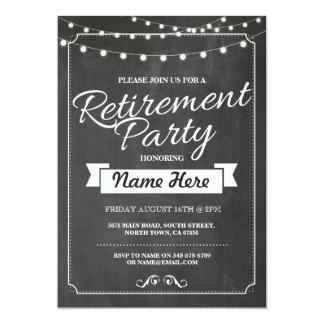 Retirement Party Rustic Retired Chalkboard Invite