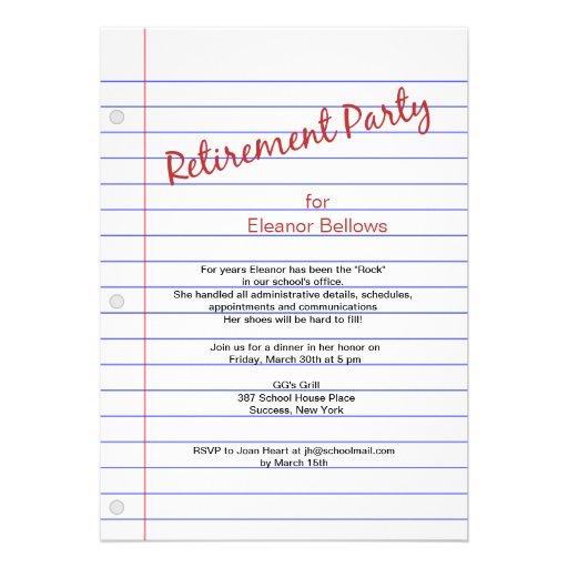 Elegant Retirement Invitations as best invitation sample