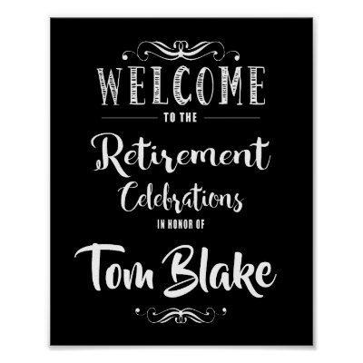 Fantastic Retirement Fingerprint Tree Poster | Zazzle.com DM51