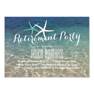 Retirement Party Tropical Summer Beach Starfish Card
